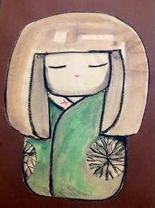 Kokeshi verde
