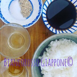 Ingredienti per yaki-onigiri