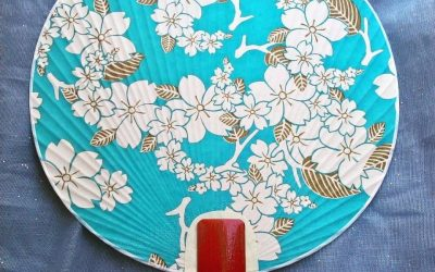 Un uchiwa o ventaglio tradizionale giapponese