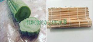 Modellare il rotolo usando, se lo si desidera, un makisu o stuoietta di bambu.