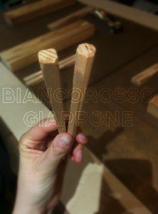 Bacchette artigianali in legno di faggio