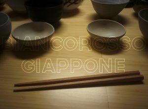 Le bacchette con le ceramiche di Miyabi