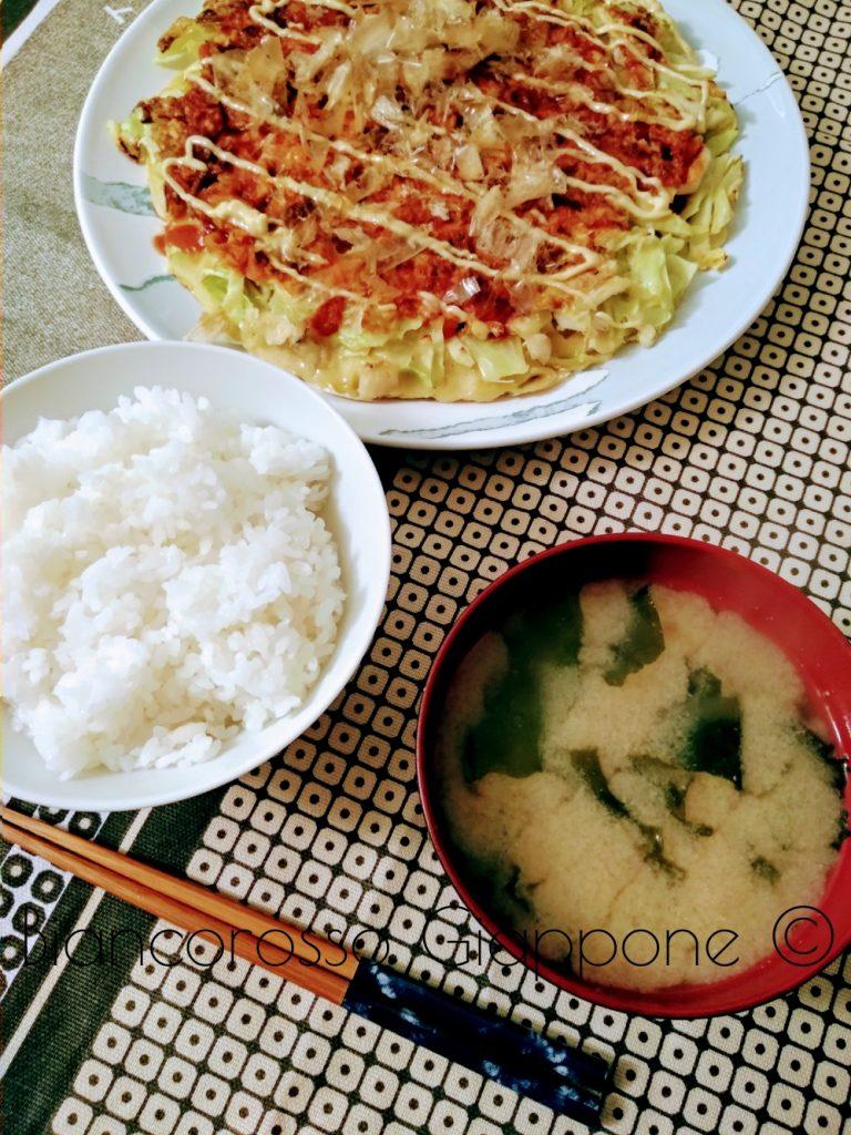 Okonomiyaki teishoku