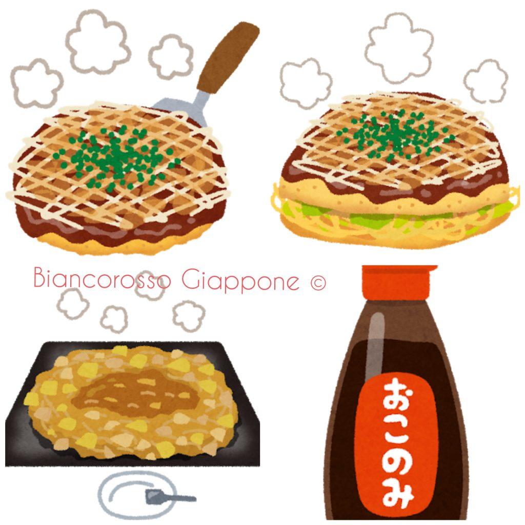 Illustrazioni okonomiyaki