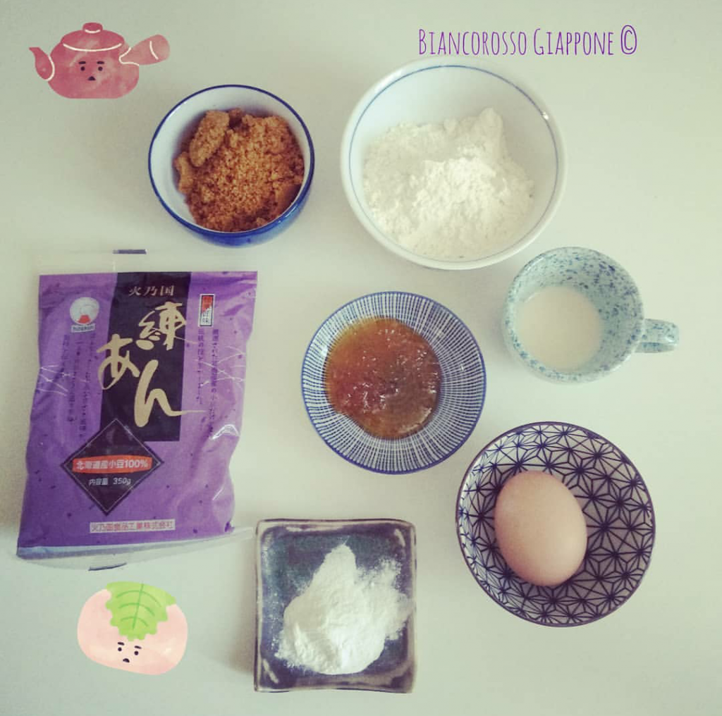 Ingredienti per dorayaki casalinghi