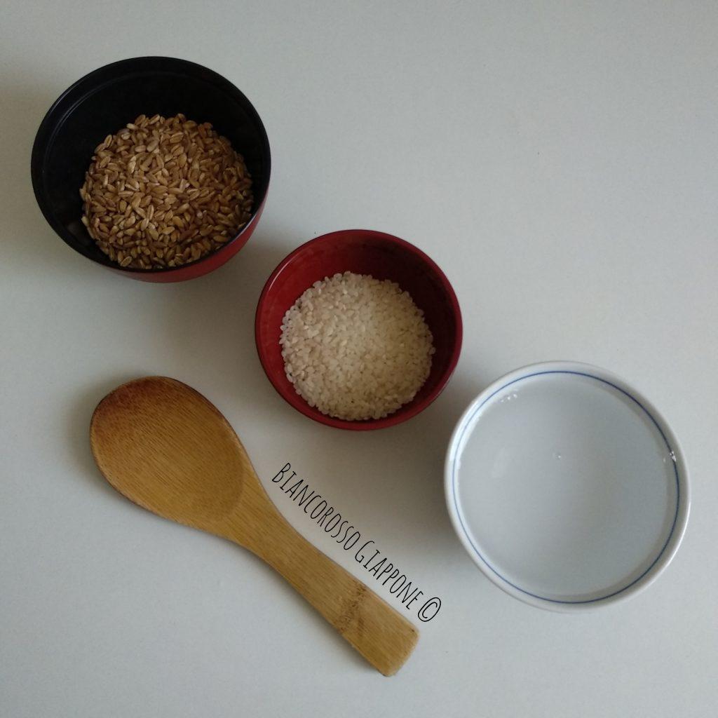 Ingredienti per il mugi-gohan