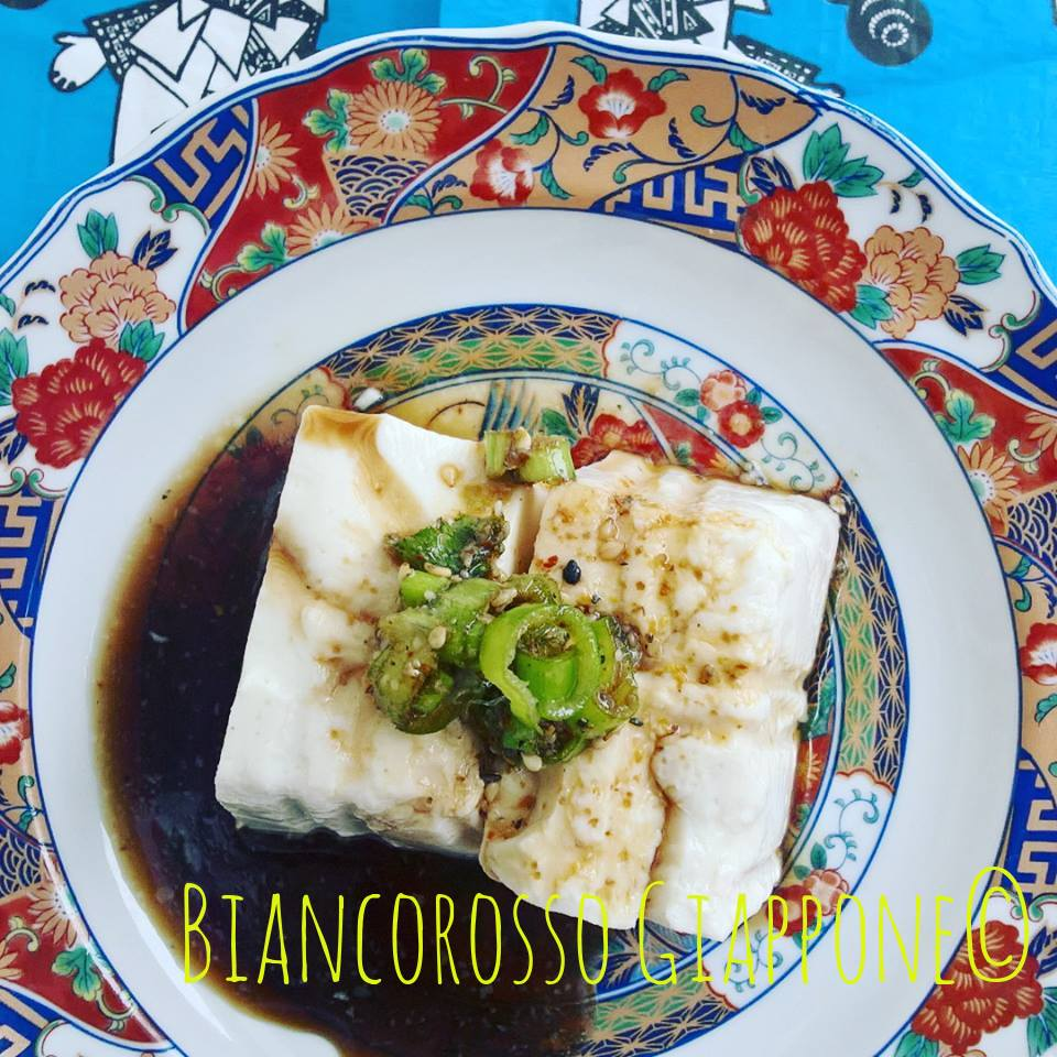 Yudofu o tofu bollito.
